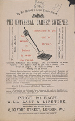 Advert for the Universal Carpet Sweeper